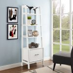 Small Modern White Bookcase – Landon