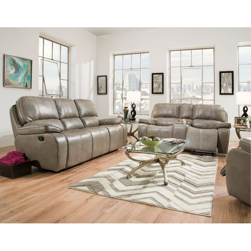 Smoke Gray Power Reclining Sofa Loveseat Jamestown Everything