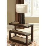 Smokey Tan Modern Chair Side Table – Bennett
