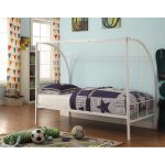 Soccer Goal White Twin Metal Bed – Boltzero