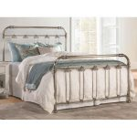 Soft Gold Traditional Queen Metal Bed – Samantha