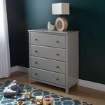 Soft Gray 4-Drawer Chest – Cotton Candy