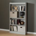 Soft Gray 4 Shelf Bookcase – Axess
