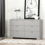 Soft Gray 6-Drawer Double Dresser – Reevo