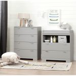 Soft Gray Changing Table and Chest – Reevo