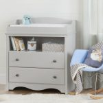 Soft Gray Changing Table with Drawers – Angel