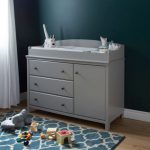 Soft Gray Changing Table with Removable Changing Station – Cotton.