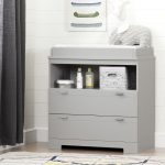 Soft Gray Changing Table with Storage – Reevo