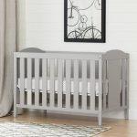 Soft Gray Crib, Mattress & Toddler Rail – Angel