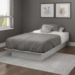 Soft Gray Twin Platform Bed – Libra