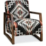 Southwest Modern Wood Chair with Pendleton by Sunbrella Fabric.