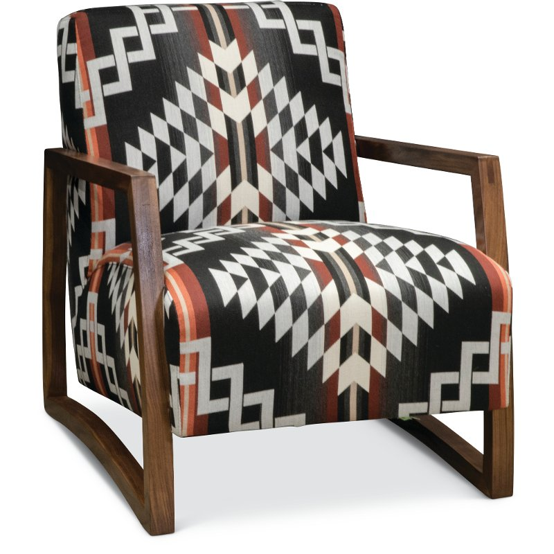 Sensational Southwest Modern Wood Chair With Pendleton By Sunbrella Andrewgaddart Wooden Chair Designs For Living Room Andrewgaddartcom