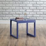 Square 1 Berry Blue Accent Table