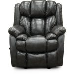Starry Charcoal Gray Leather-Match Rocker Recliner – Renegade