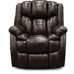 Starry Chocolate Brown Leather-Match Rocker Recliner – Renegade
