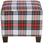 Stewart Dress Multi Square Nail Button Ottoman