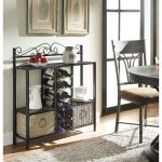 Storage Towel/Wine Rack with 2 Baskets