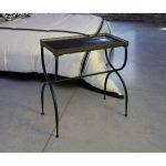 Stunning Rectangular Black X-Leg Accent Table