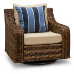 Swivel Outdoor Patio Wicker Chair – Tortola