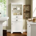 Tall White Bathroom Cabinet – Lydia