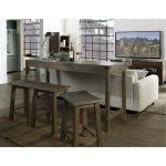 Tan Counter Height Sofa Table – St. Croix