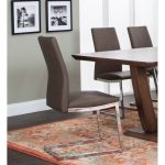 Taupe and Chrome Dining Chair