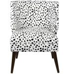 Togo Black And White Modern Chair