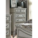 Traditional Antique White Chest of Drawers – Magnolia Manor