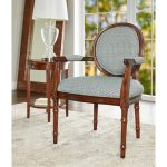 Traditional Blue Accent Chair – Belle