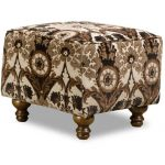 Traditional Brown & Black Accent Ottoman – Prodigy