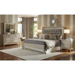 Traditional Champagne 6-Piece King Bedroom Set – Diva