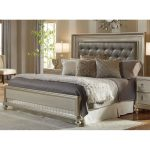 Traditional Champagne Gold Queen Size Bed – Diva