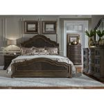 Traditional Chestnut Brown 6-Piece Queen Bedroom Set – Valley Springs