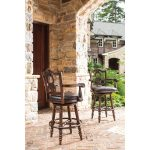 Traditional Elegant Swivel Barstool