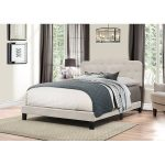 Traditional Fog Gray Queen Upholstered Bed – Nicole