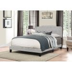 Traditional Glacier Gray King Upholstered Bed – Nicole