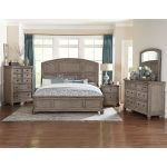 Traditional Gray Oak 6-Piece King Bedroom Set – Lavonia