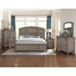 Traditional Gray Oak 6-Piece Queen Bedroom Set – Lavonia