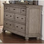 Traditional Gray Oak Dresser – Lavonia
