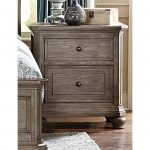 Traditional Gray Oak Nightstand – Lavonia
