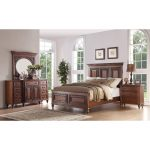 Traditional Pecan Brown 6-Piece Queen Bedroom Set – Emma's Garden