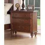 Traditional Pecan Brown Nightstand – Emma's Garden
