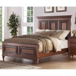Traditional Pecan Brown Queen Size Bed – Emma's Garden