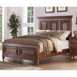 Traditional Pecan Brown Queen Size Bed – Emma's Garden