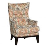 Traditional Sand Pattern Wingback Chair – Silver Lake