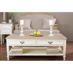 Traditonal French White Coffee Table