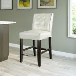 Transitional Cream Counter Stool