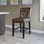 Transitional Dark Brown Counter Stool