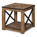 Transitional Medium Brown End Table – Penderton