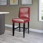 Transitional Red Counter Stool